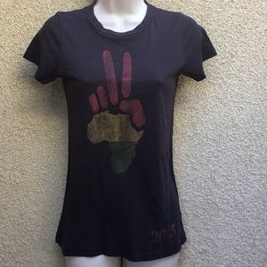 Junk Food T-Shirt Reggae Peace Small
